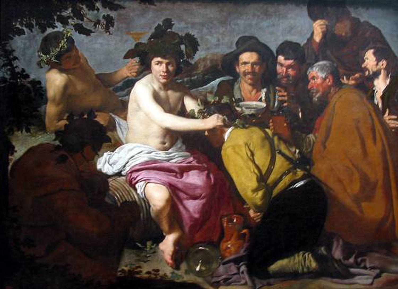 'O Triunfo de Baco', de Velázquez, 1628 -1629, no Museu do Prado.