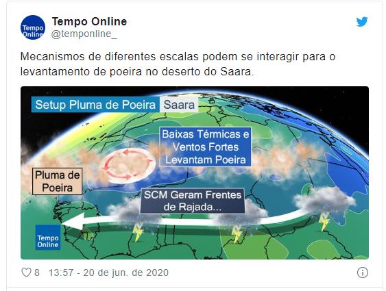 Grandes plumas de poeira do Saara está em direção ao Brasil - Imagem 2