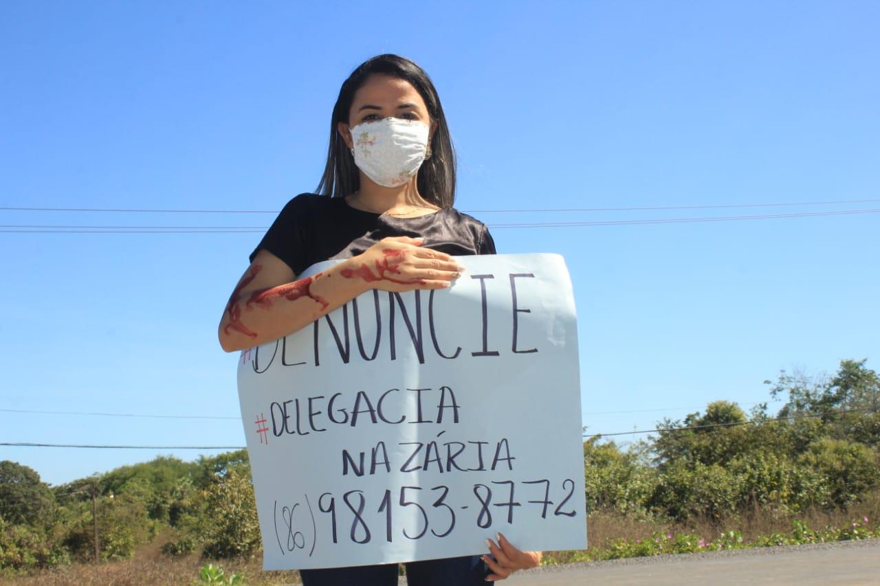 Mulheres de Nazária fazem ato contra a violência  - Imagem 1
