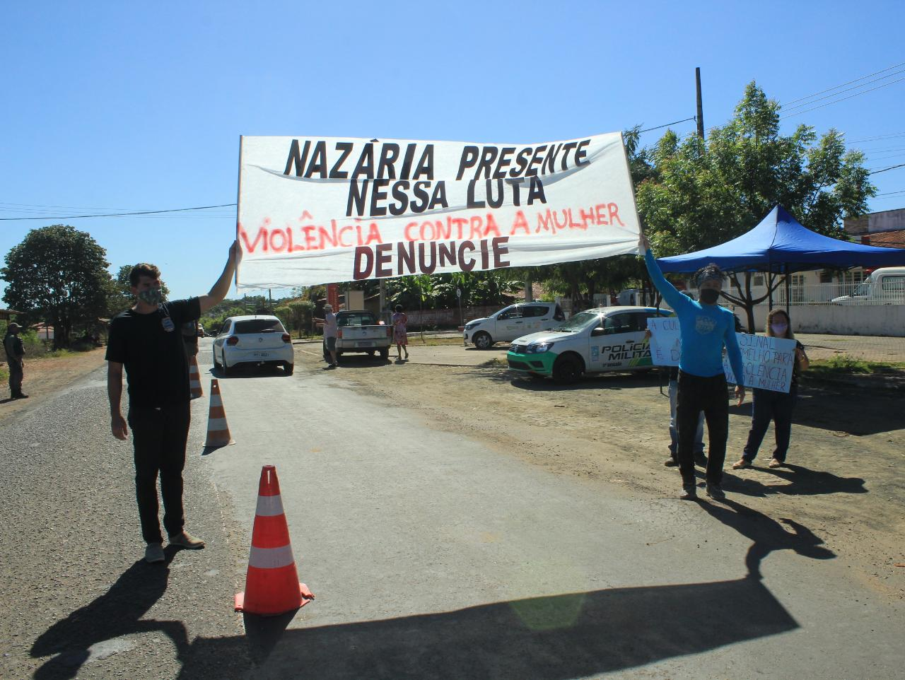 Mulheres de Nazária fazem ato contra a violência  - Imagem 3
