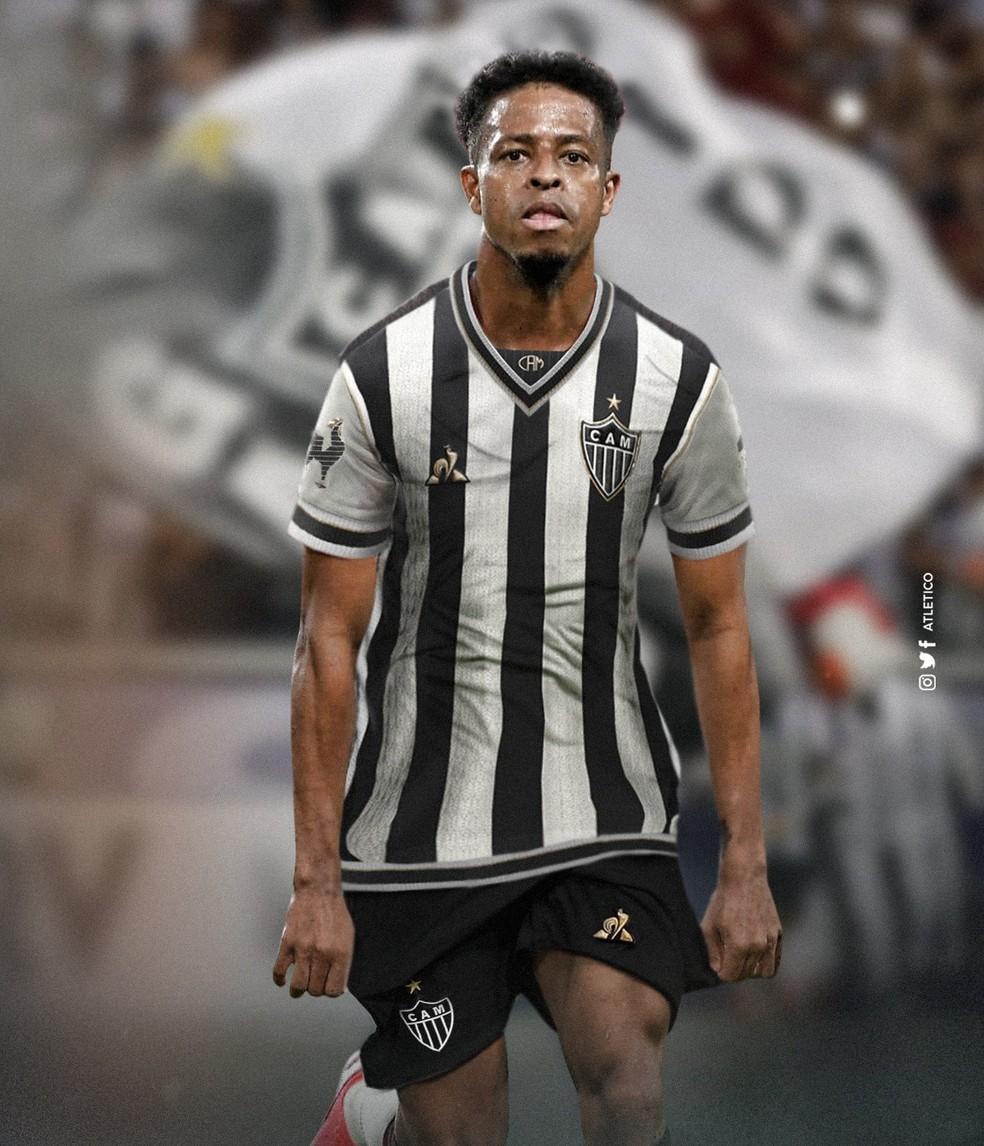 Legenda: Keno agora esta no Atlético-MG- Foto: Reprodução/Twitter