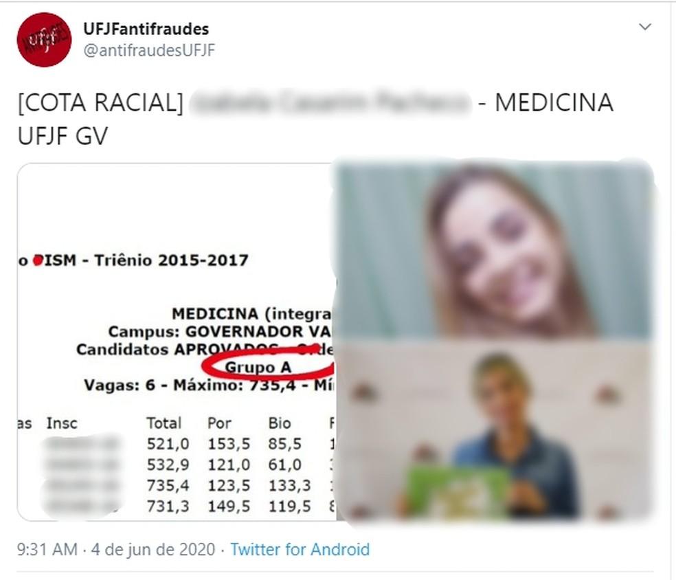 Perfil na web denuncia suspeitos de fraudar cotas em universidade - Imagem 1