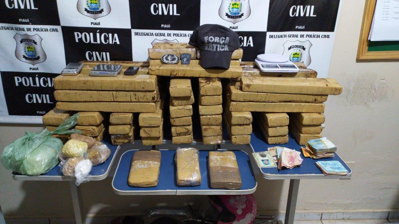 Operação prende grandes traficantes e apreende 67kg de drogas no PI - Imagem 1