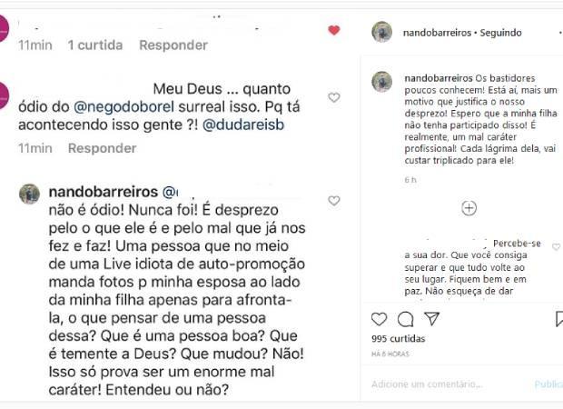 Pai de Duda acusa Nego do Borel de mandar fotos para provocar sogra - Imagem 3