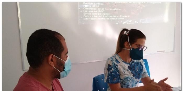 Reunião com os odontólogos do município