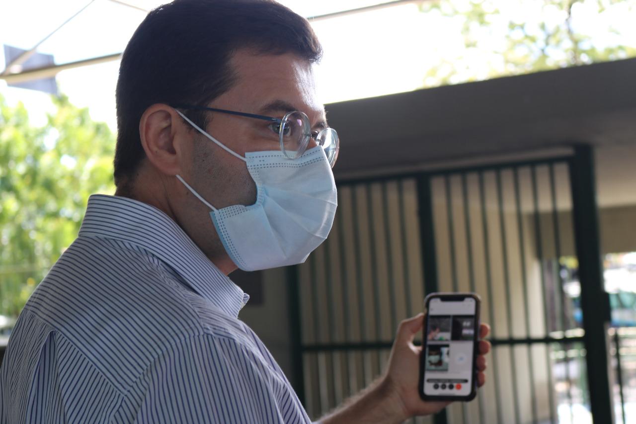 Visitas virtuais a pacientes de casa (Divulgação)