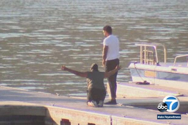 Yolanda foi até o lago onde a filha desapareceu - Foto: Reprodução/TMZ