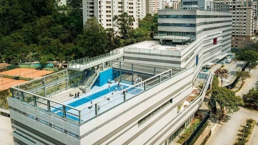 Vista aérea da escola - Foto: Divulgação