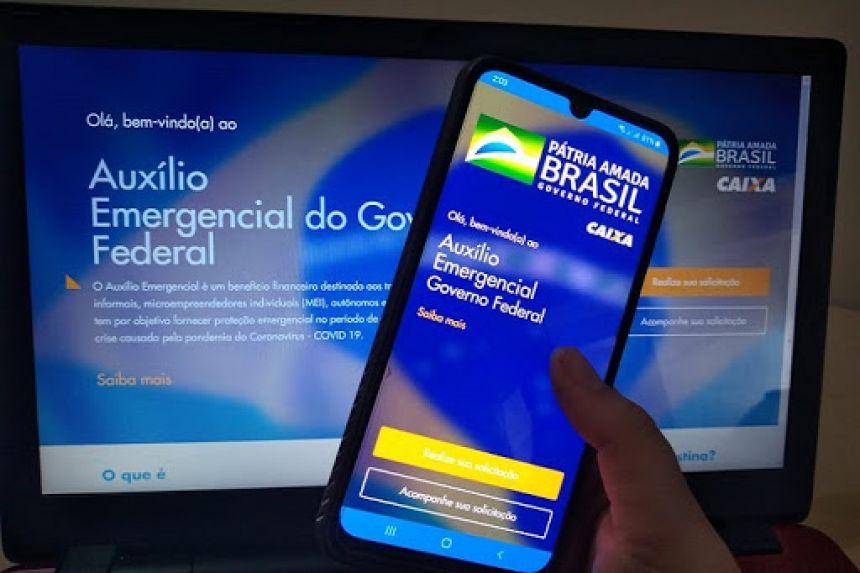 Site do auxilio emergencial do governo federal - Dilvugação