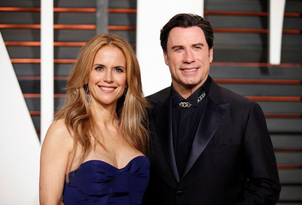 Kelly Preston e o marido John Travolta - Foto: Reprodução
