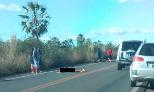 PRF informou que o acidente foi do tipo colisão lateral / Crédito: Campo Maior em Foco