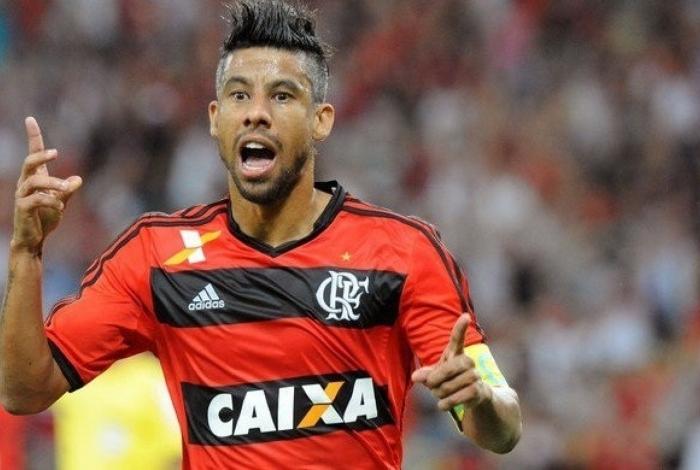 O Ex-jogador do Flamengo, que atualmente defende o Botafogo-PB, Léo Moura-Foto: Reprodução