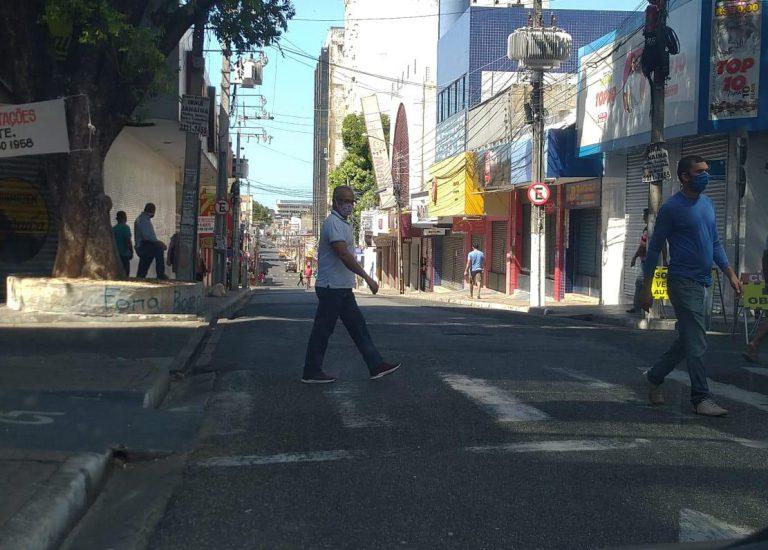 Ruas do Centro de Teresina são interditadas (Reprodução/ Prefeitura de Teresina)