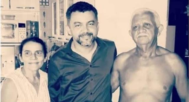 Deputado federal Cleber Verde e seus pais - Foto: Reprodução