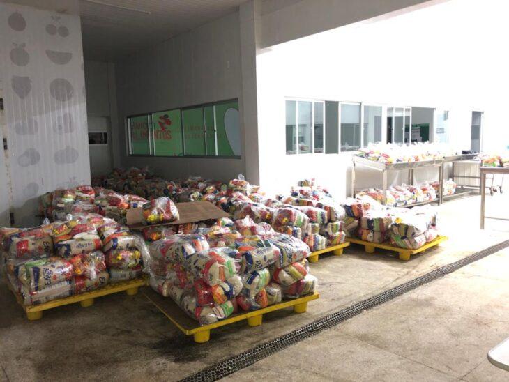 Kits doados já somam mais de 18 toneladas de alimentos e produtos - Foto: Divulgação