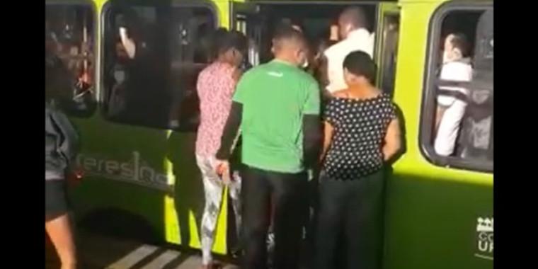 Fake News: vídeo que mostra lotação de ônibus em Teresina é de março