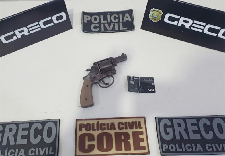 Arma apreendida na prisão dos acusados