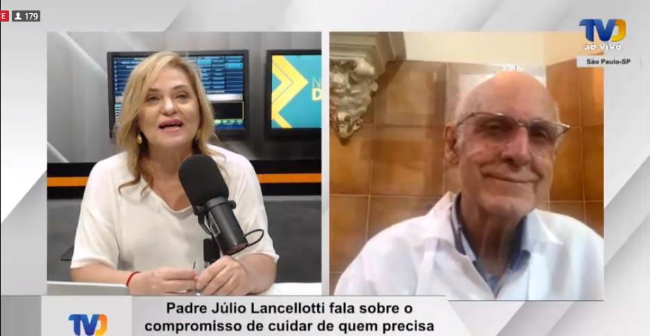 Pe. Júlio Lancelotti em entrevista ao programa Notícias da Boa nesta sexta (17)