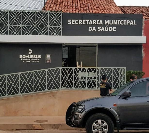 Polícia Federal cumpre mandados na Prefeitura de Bom Jesus / Crédito: PF