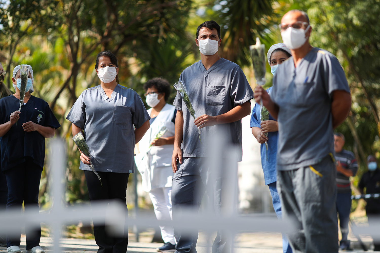 Brasil registrou 1.038 mortes por coronavírus em 24 horas Foto: AFP