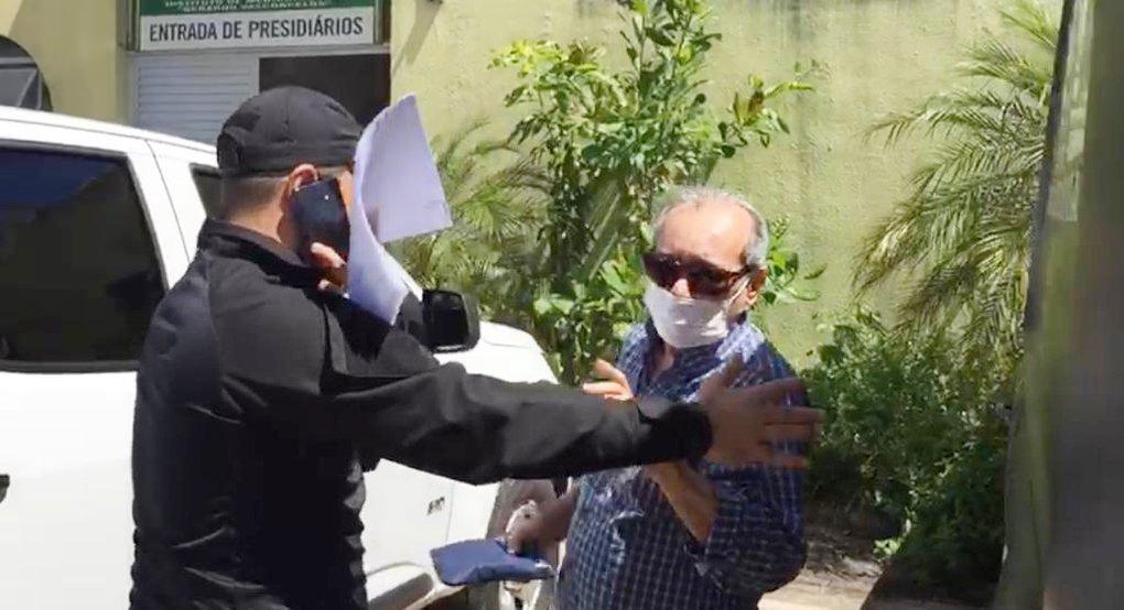 Jornalista Arimatéia Azevedo foi preso em Teresina pelo crime de extorsão - Foto: Reprodução/Rede MN