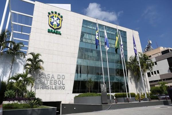 Fachada da CBF, no Rio de Janeiro