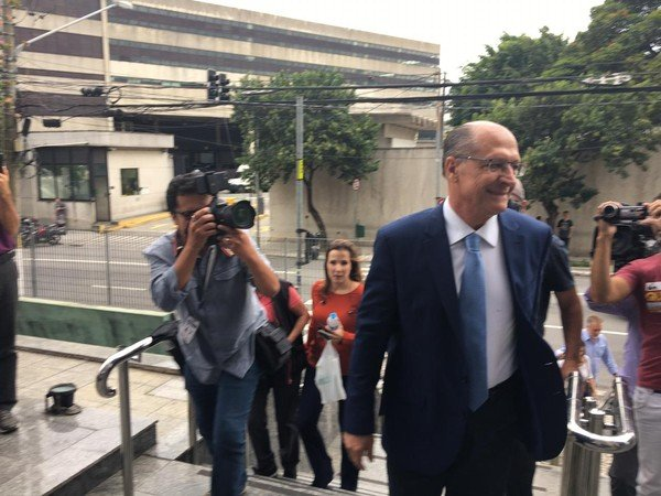 Geraldo Alckimon chega a sede da PF para prestar depoimento em abril de 2019 - Foto: Gabriela Gonçalves