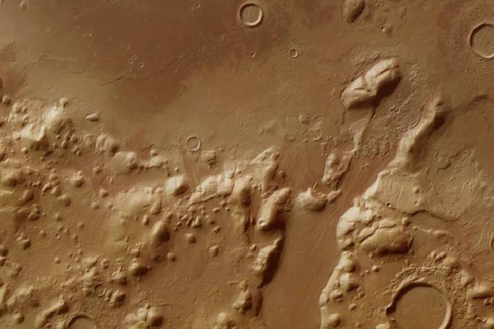 Crateras em Marte / Foto: NASA