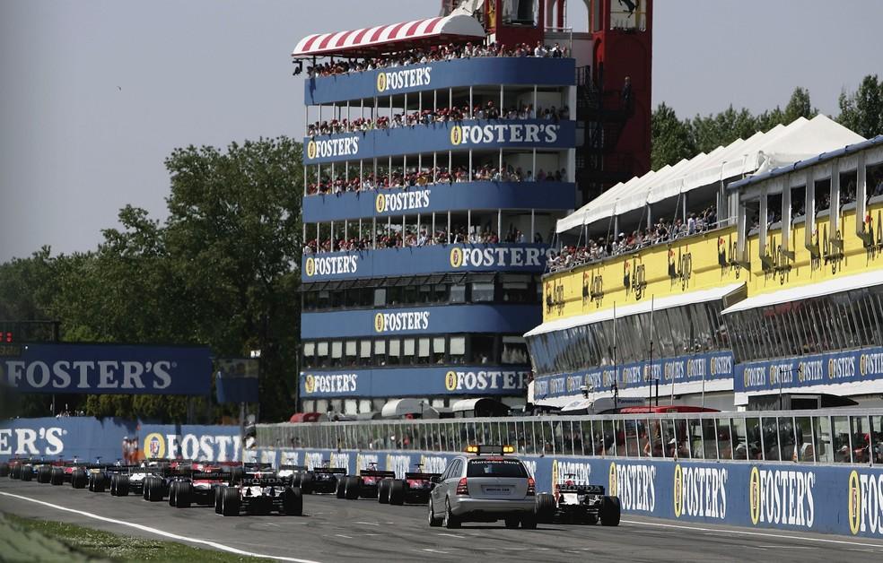 Largada do último grande prêmio de F1 em Imola, em 2006-Foto: Getty Images