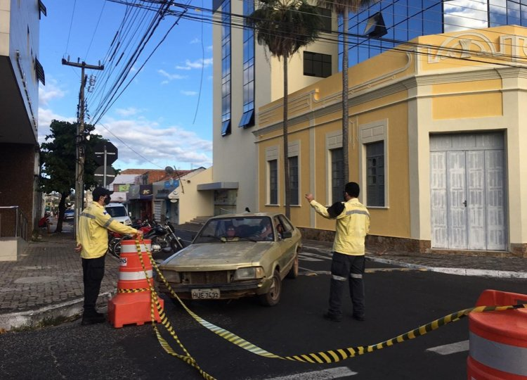 Ruas do centro continuarão interditadas - Foto: Strans