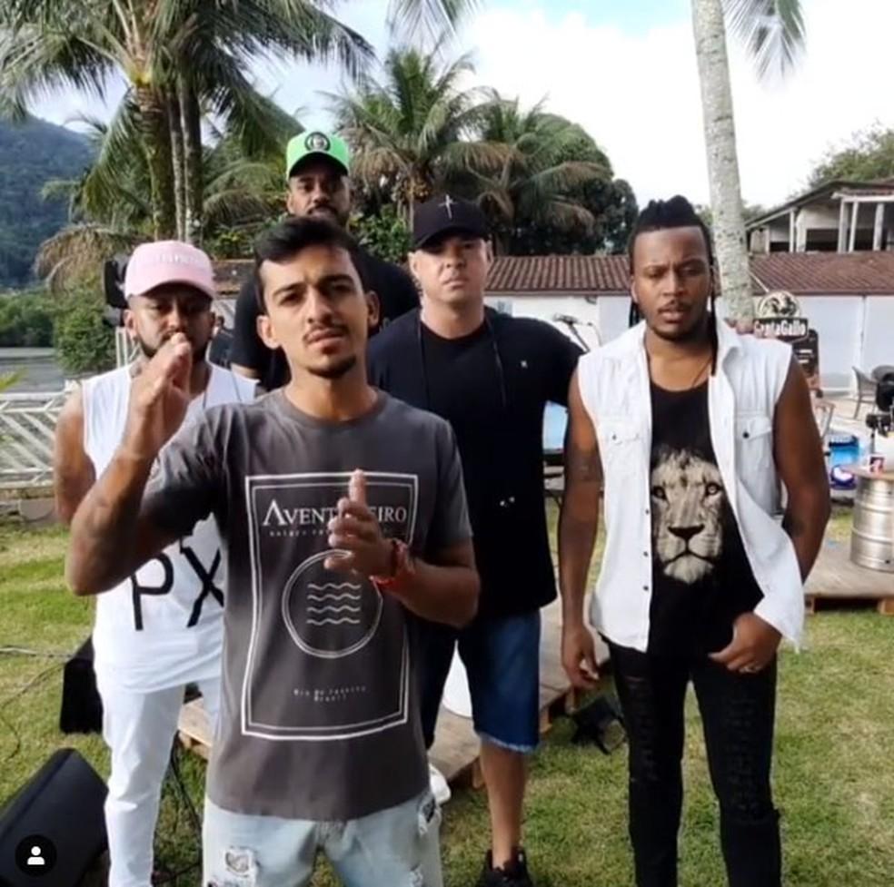 Banda de pagode encerra live devido tiroreio no Rio de Janeiro - Foto: Reprodução