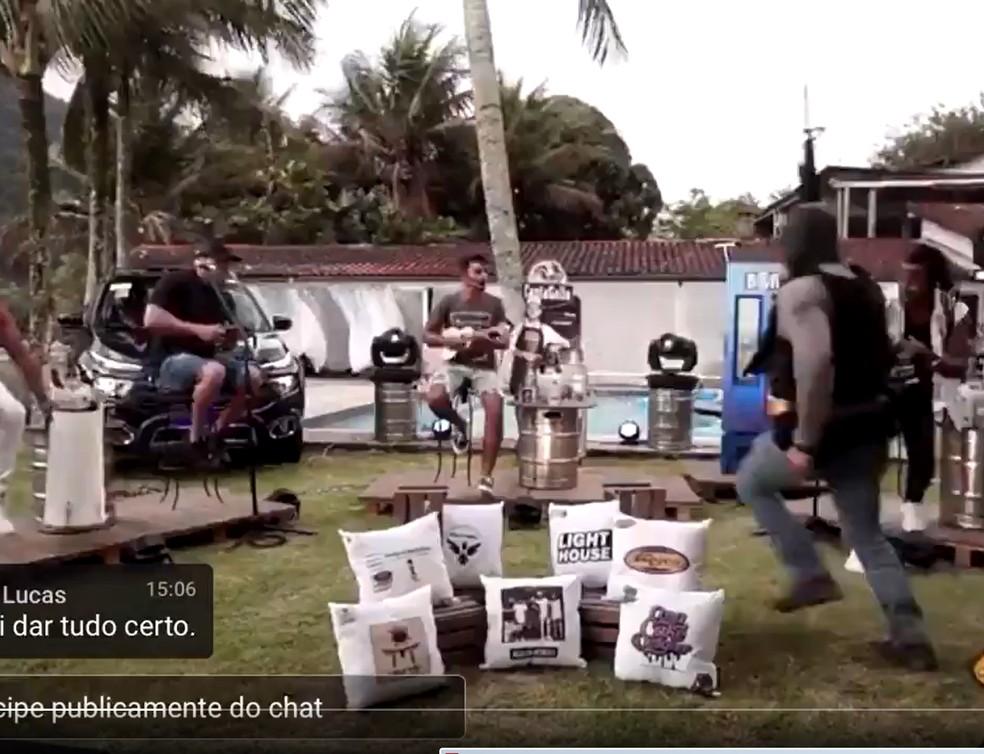 Tiroteio em live no Rio de Janeiro - Foto: Reprodução
