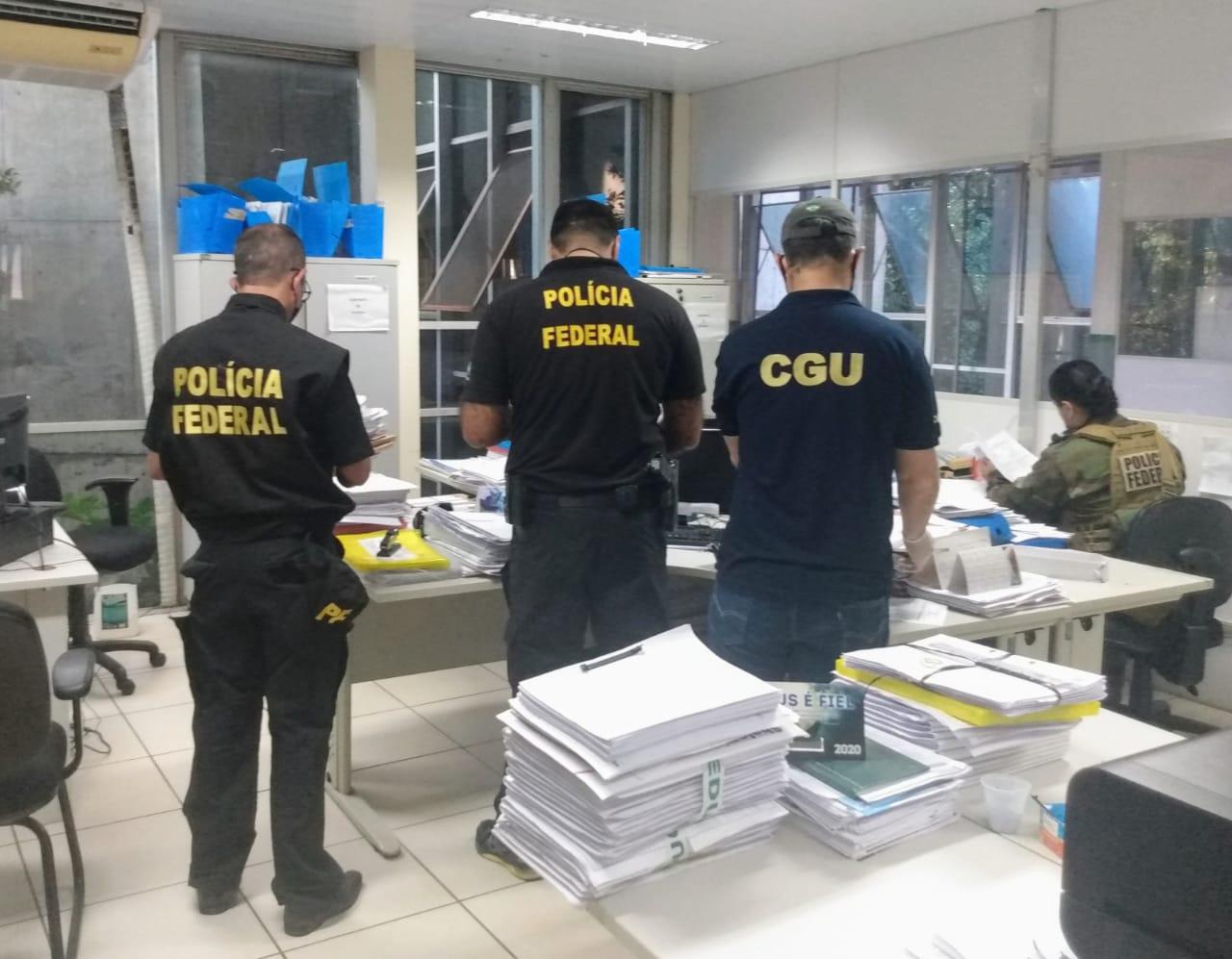 3° fase da operação da PF no prédio da Seduc- Foto: Reprodução PF
