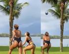 Namorado posta Sasha jogando vôlei de maiô, mas deleta em seguida