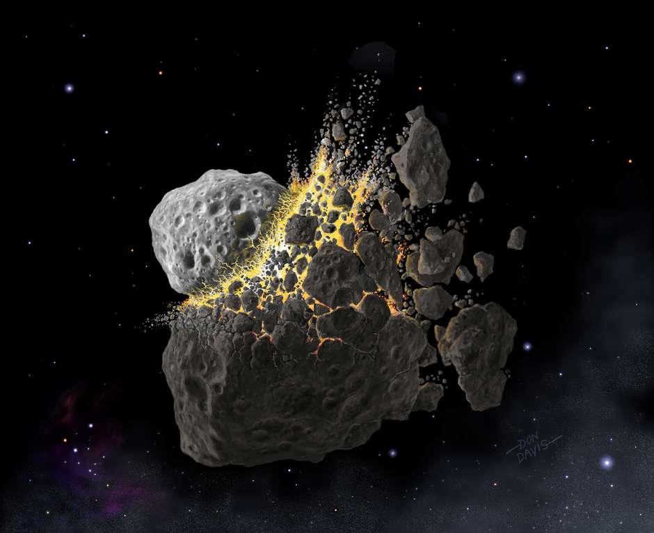 Imagem ilustrativa de asteroide