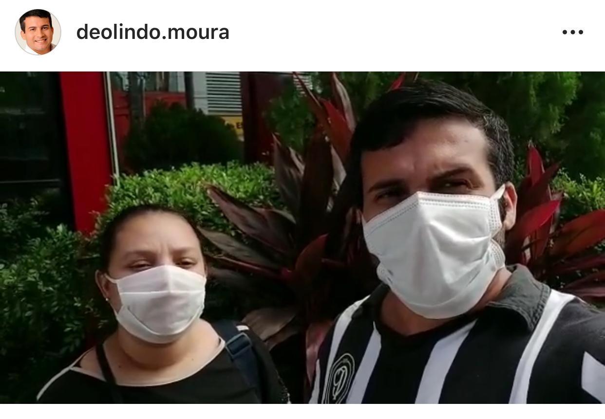 Vereador Deolindo Moura recebe alta médica após ser cudado da Covid-19 - Foto:Reprodução/Instagram