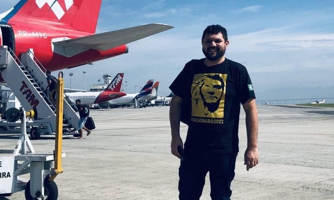 O blogueiro bolsonarista Oswaldo Eustáquio Foto: Reprodução