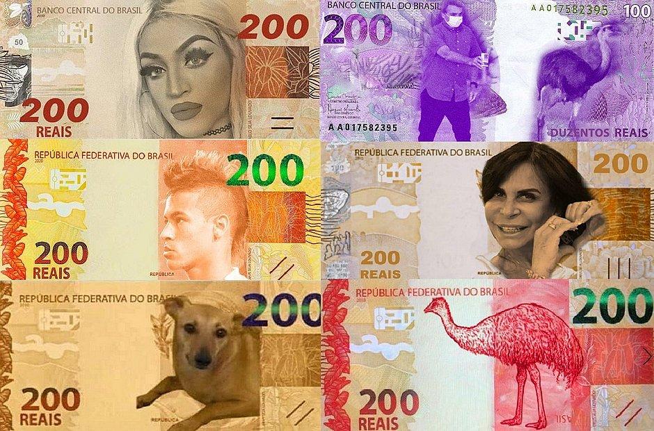 Memes da nota de R$ 200 (Foto: Reprodução)Memes da nota de R$ 200 (Foto: Reprodução)