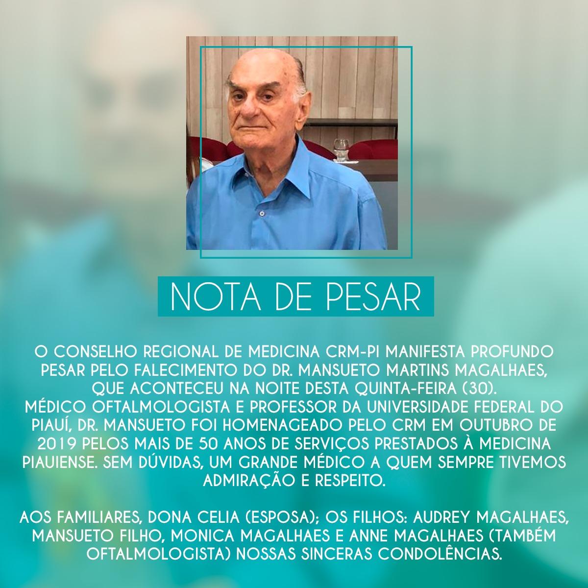 Médico Mansueto Magalhães morre de Covid aos 86; filho está internado - Imagem 2