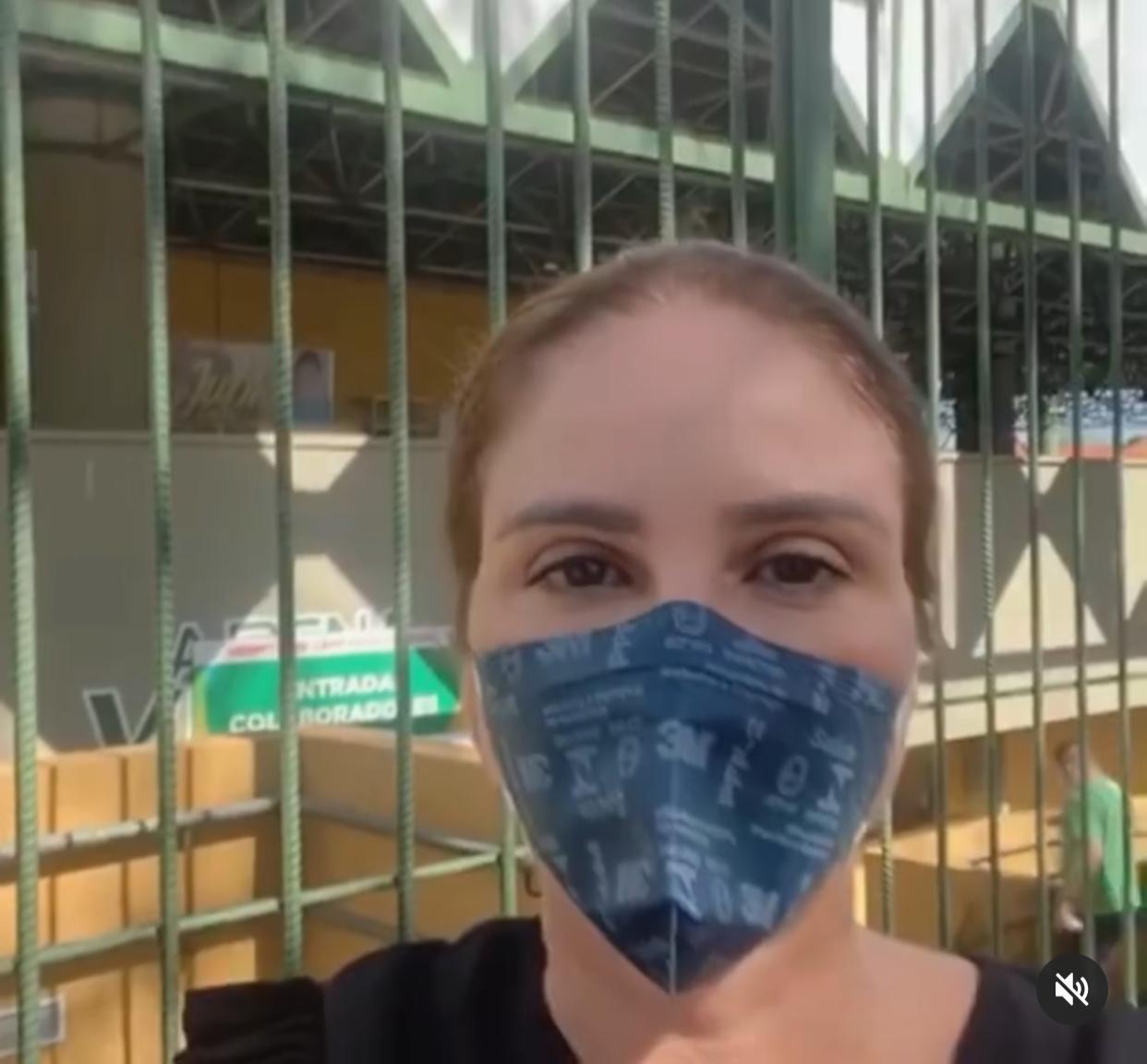 Deputada Lucy Soares é barrada na entrada de hospital de campanha - Foto: Reprodução/Instagram