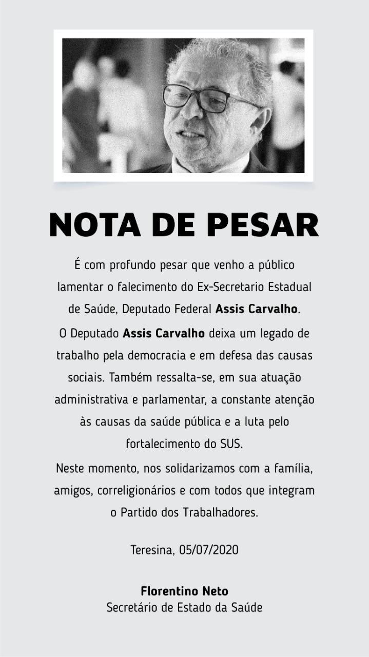 Deputado Assis Carvalho morre aos 59 anos após sofrer infarto - Imagem 2