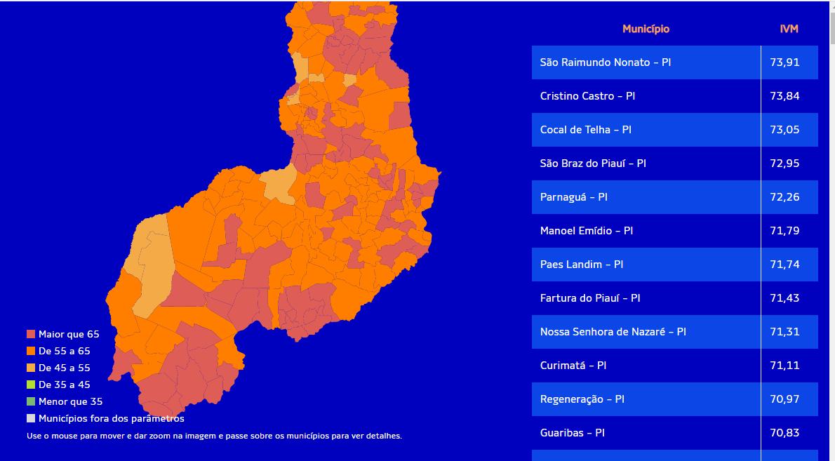 Conheça as 10 cidades do Piauí mais vulneráveis à crise do coronavírus