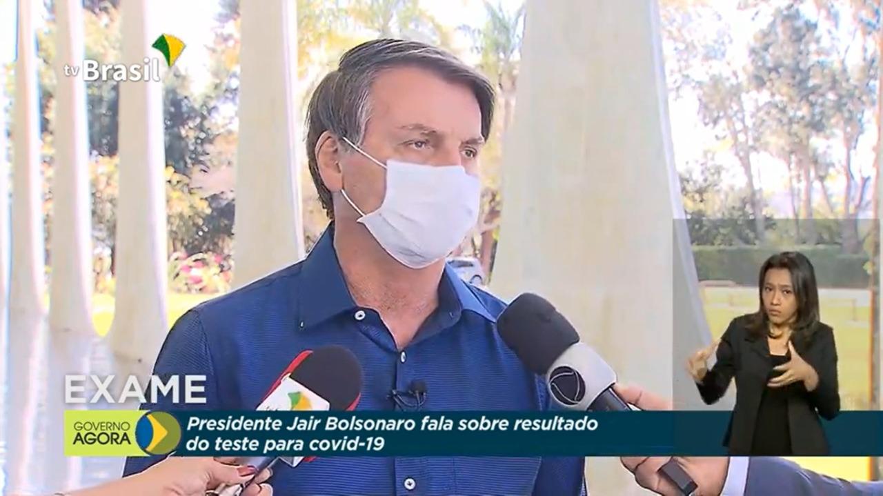 Bolsonaro testa positivo para Covid-19 (Reprodução/ Youtube)