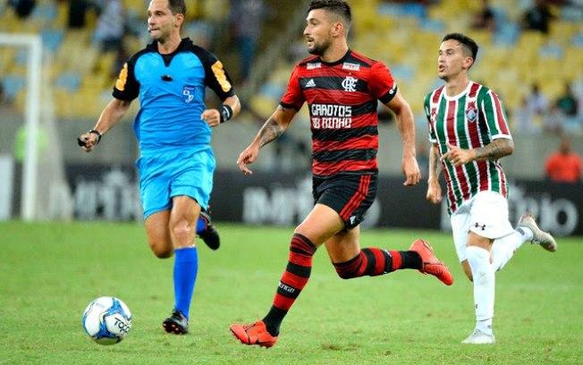 Fla e Fluminense em jogo-Foto: Reprodução