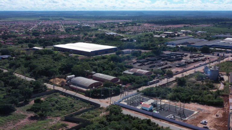 Vista aérea da área próxima à Subestação Esplanada