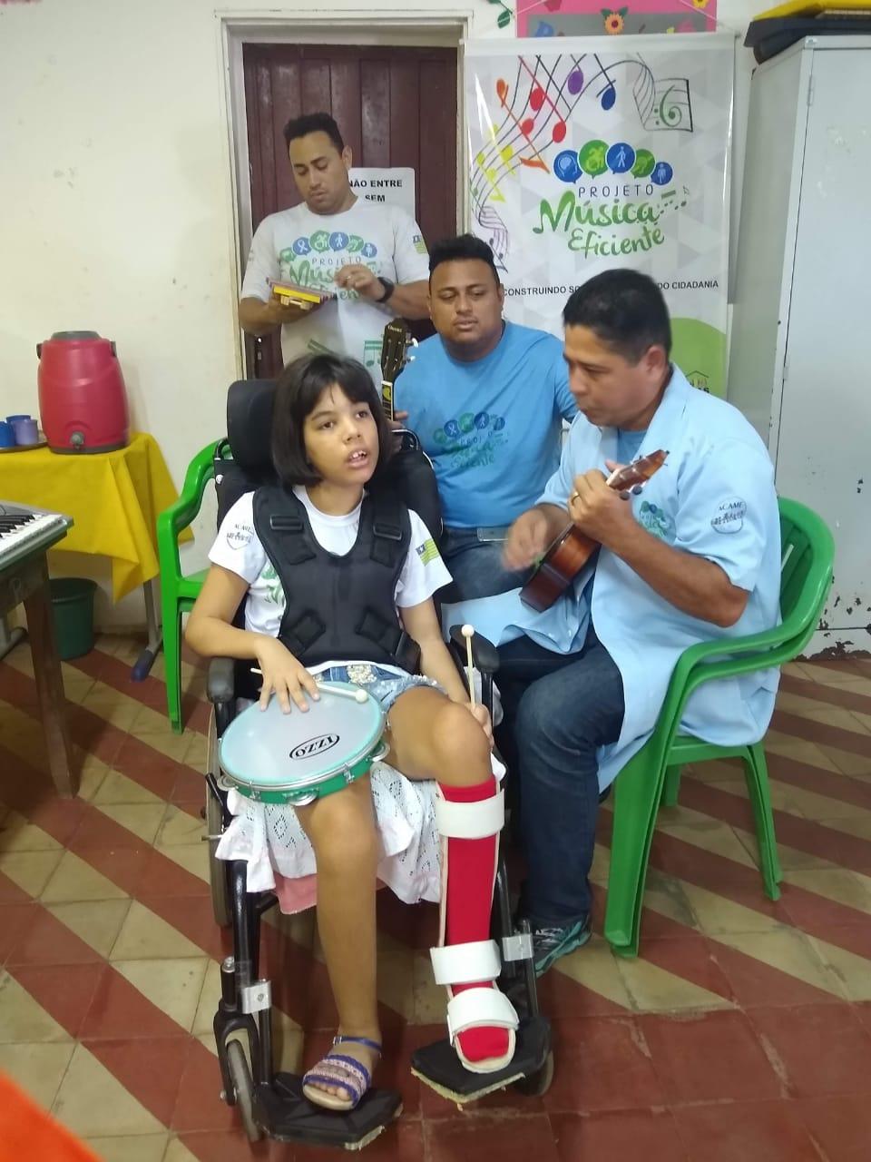 Projeto Música Eficiente promove inclusão com atividades lúdicas - Foto: Divulgação
