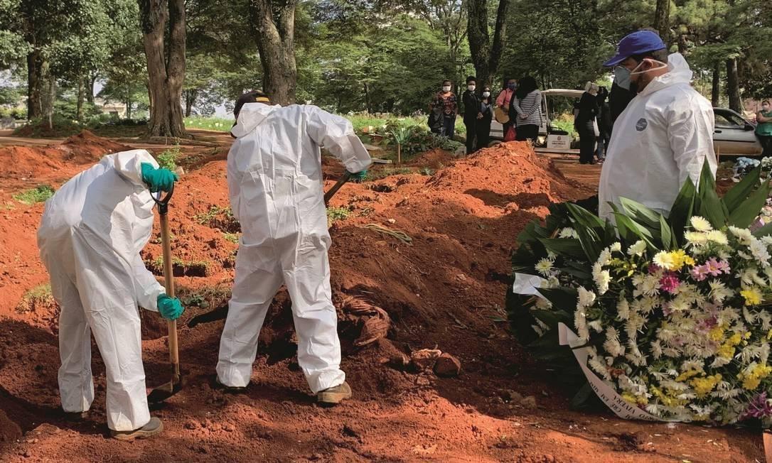 Brasil registra 1.220 mortes por coronavírus em 24 horas Foto: AFP