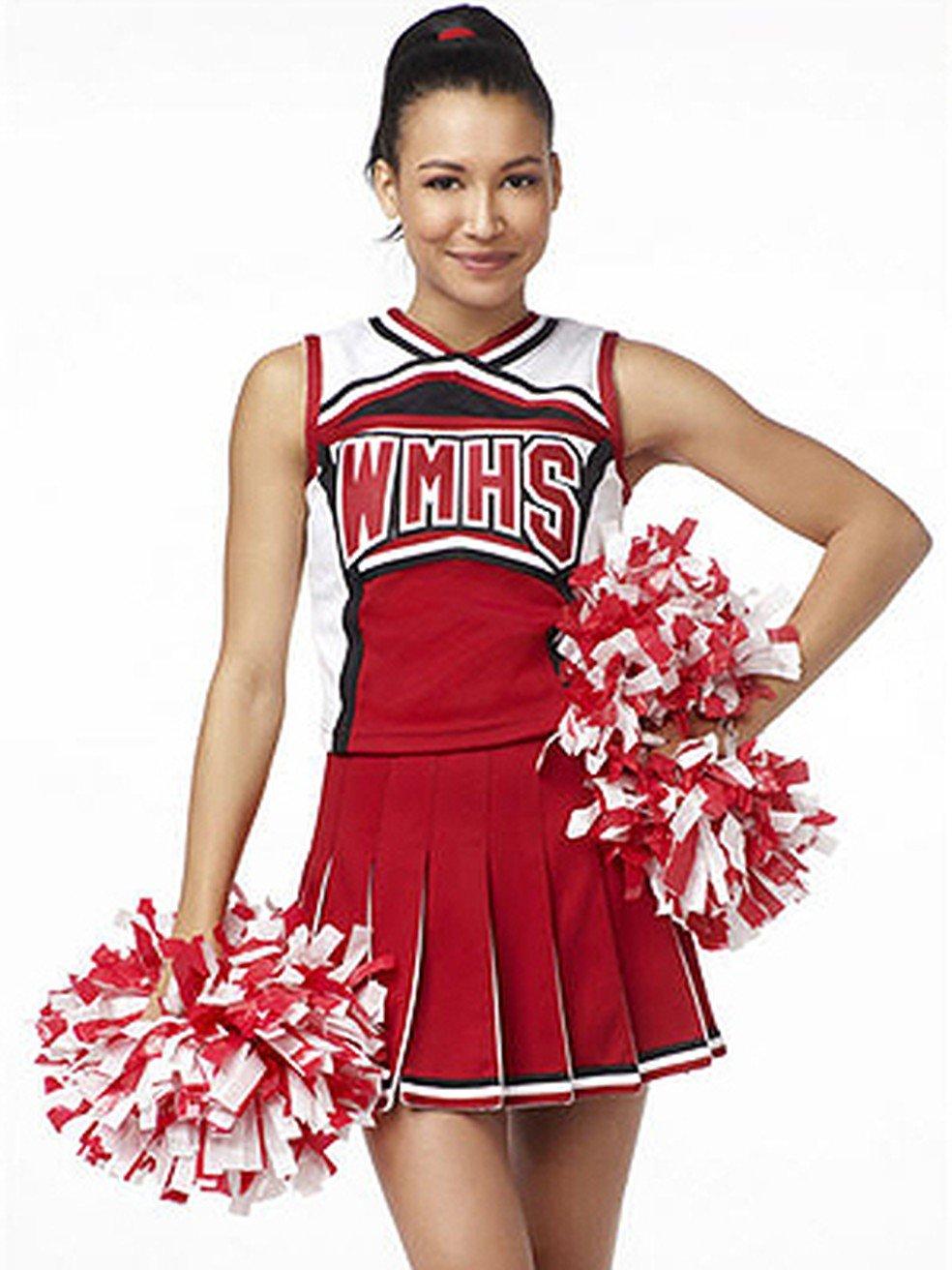 Naya Rivera como Santana, na série Glee