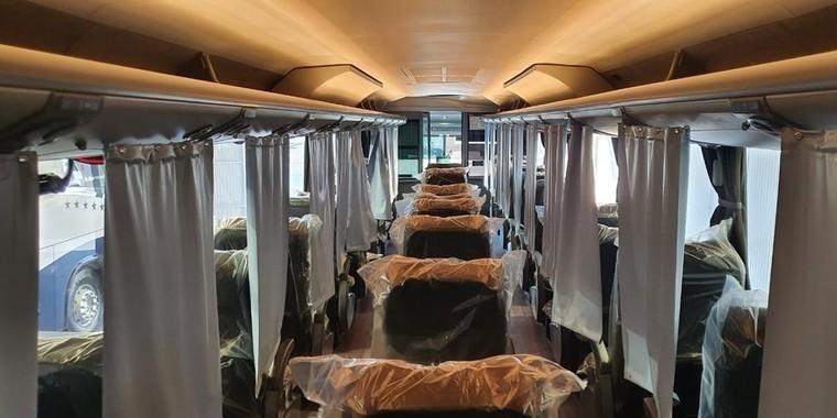Ônibus são adaptados para prevenir coronavírus