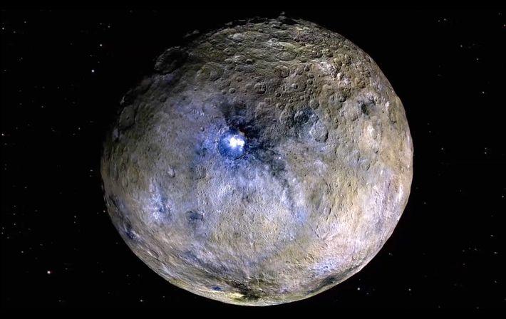 Planeta anão Ceres com falsa cor (foto: NASA)